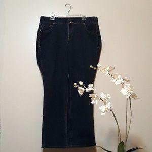Lane Bryant High Rise Dark Straight Leg jeans